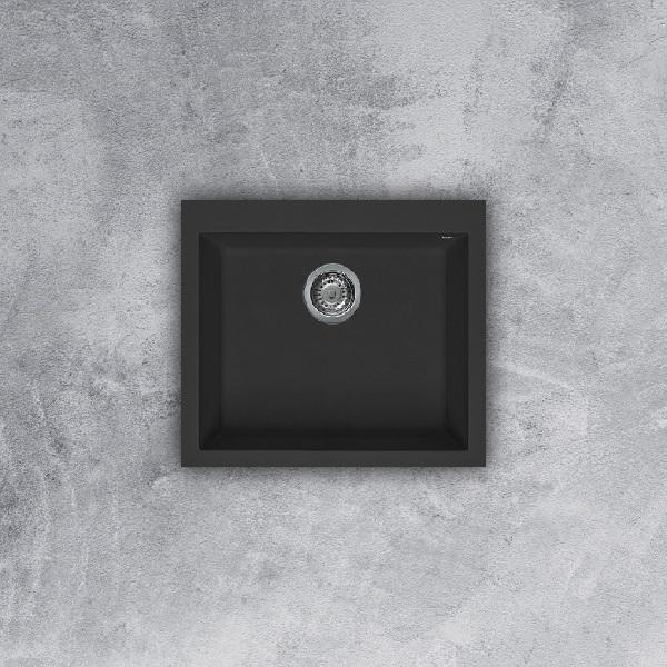 Chậu rửa chén Malloca đá Granite màu đen NERO K-10540